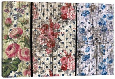 Floral Woodgrain Canvas Art Print