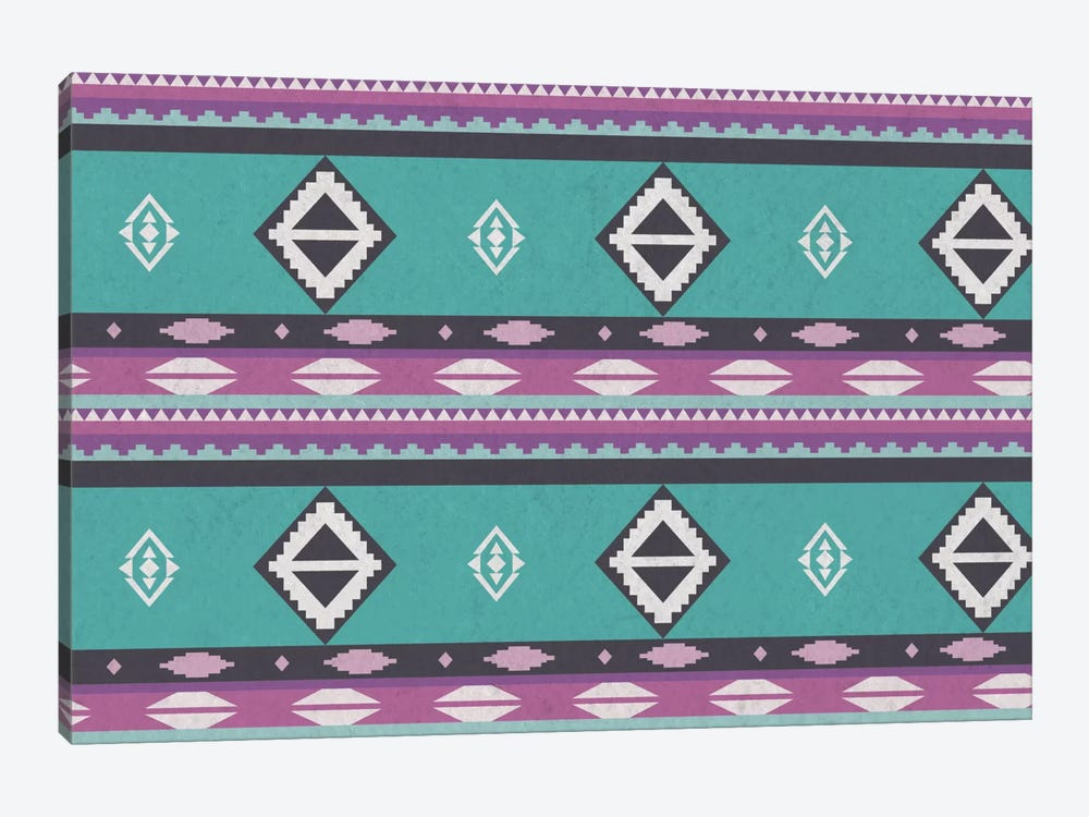 Tribal Blue and Purple by iCanvas 1-piece Canvas Print