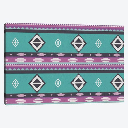 Blue & Purple Tribal Pattern Canvas Print #TXT40} by 5by5collective Canvas Print
