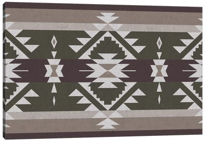 Grayscale Tribal Pattern Canvas Art Print