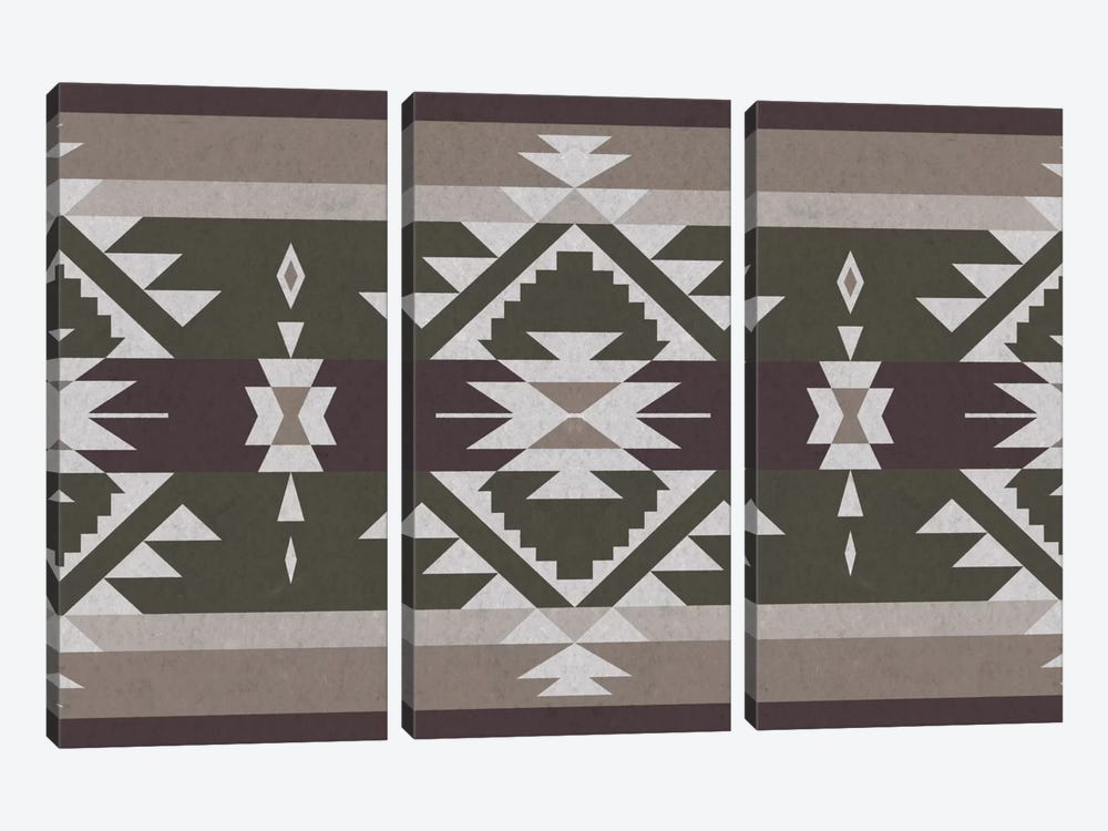 Tribal Grayscale by iCanvas 3-piece Canvas Print