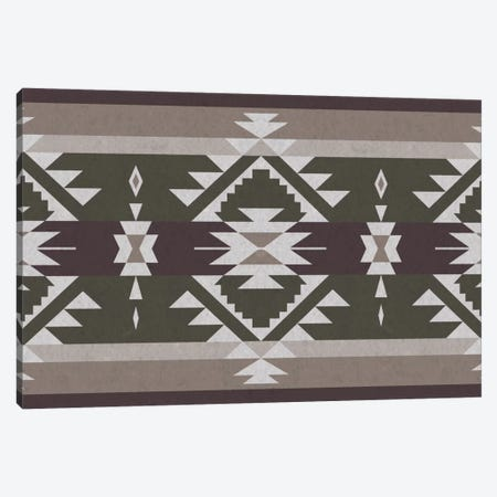 Grayscale Tribal Pattern Canvas Print #TXT42} by 5by5collective Canvas Art Print