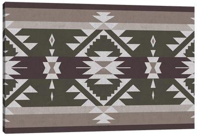 Grayscale Tribal Pattern Canvas Art Print