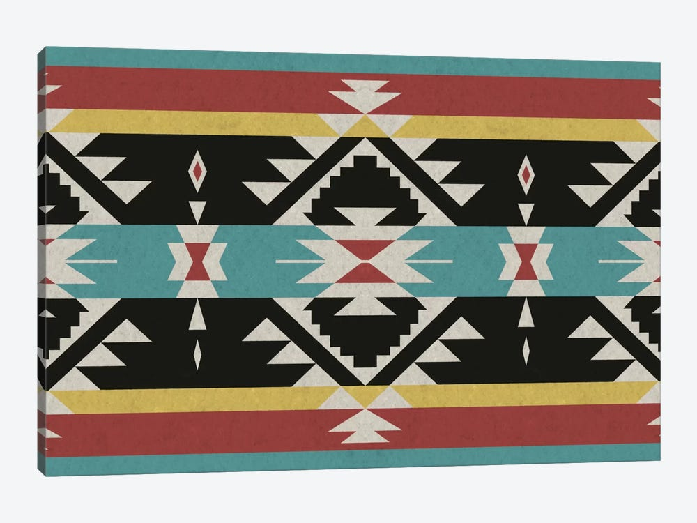 Tribal Black, Red, and Blue by iCanvas 1-piece Canvas Art