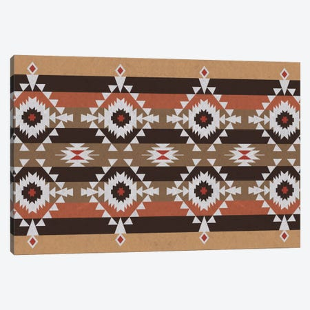 Woody Brown Tribal Pattern Canvas Print #TXT49} by 5by5collective Canvas Print