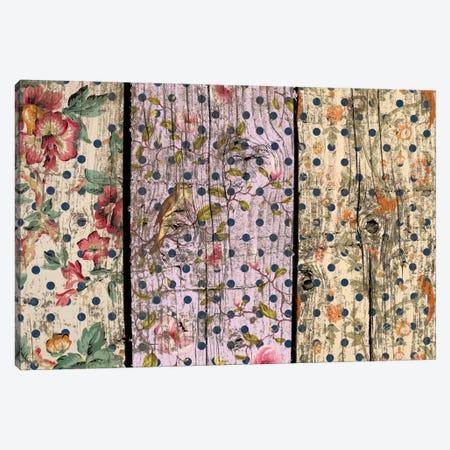 Floral Woodgrain #2 Canvas Print #TXT4} by Unknown Artist Canvas Print
