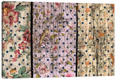 Floral Woodgrain #2 Canvas Art Print
