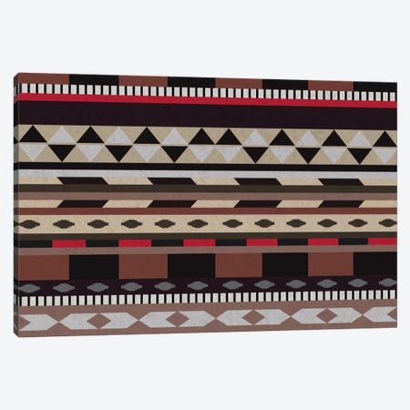 Black, Brown & Beige Tribal Pattern Canvas Print #TXT54} by 5by5collective Canvas Print