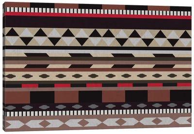 Black, Brown & Beige Tribal Pattern Canvas Art Print