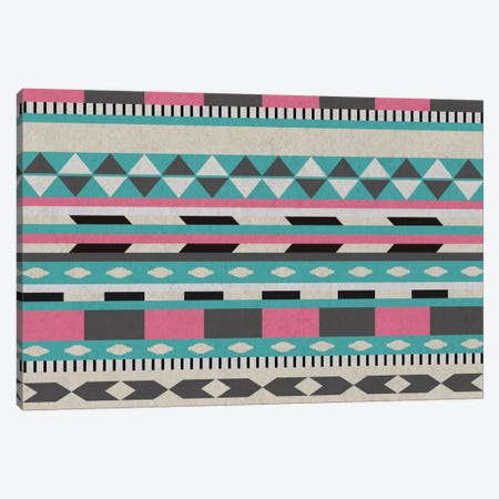 Bubble Gum Tribal Pattern Canvas Print #TXT55} by 5by5collective Art Print