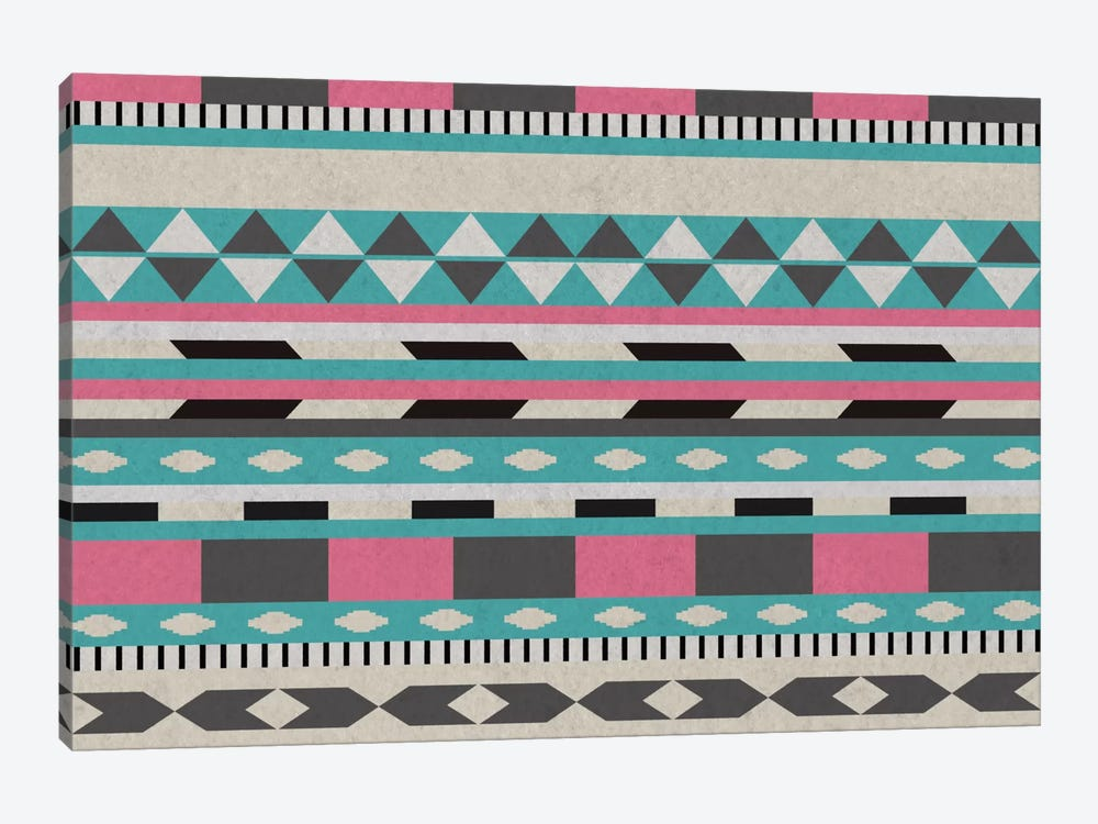 Bubble Gum Tribal Pattern by 5by5collective 1-piece Canvas Art Print