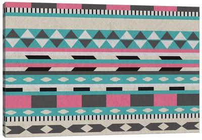 Bubble Gum Tribal Pattern Canvas Art Print