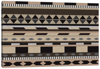 Desert Sands Tribal Pattern II Canvas Art Print