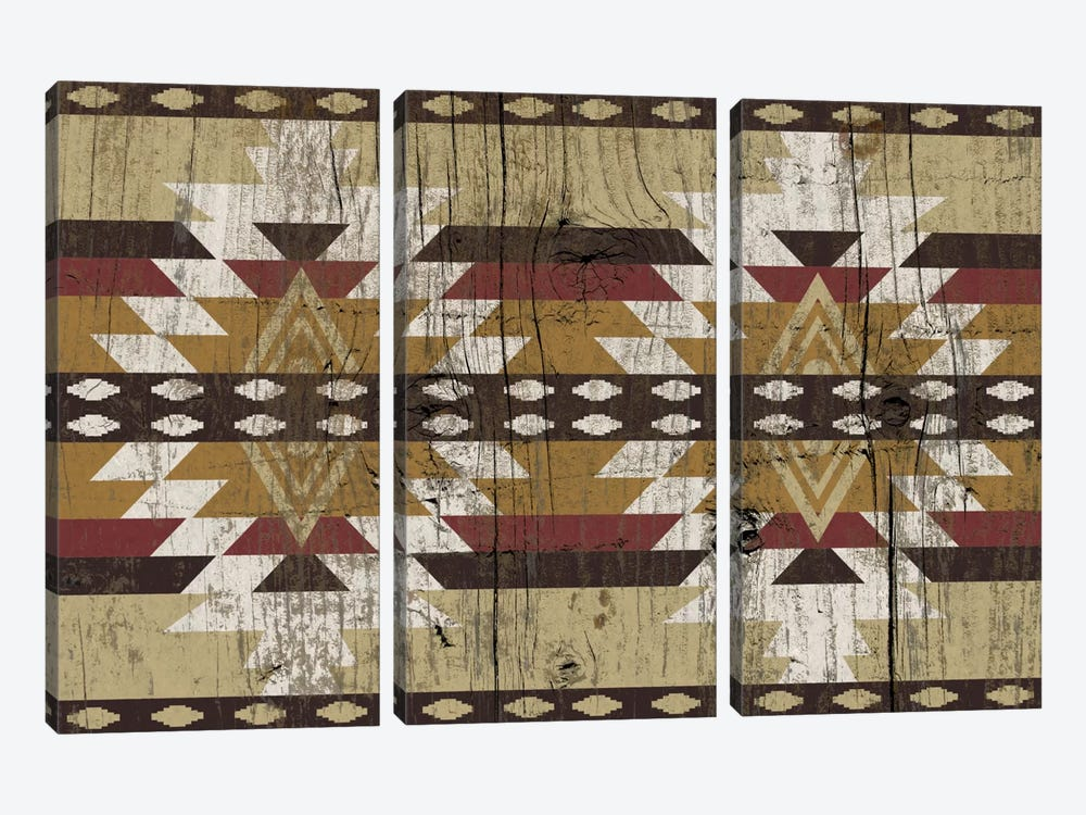 Tribal Burnings Sands Pattern by iCanvas 3-piece Canvas Art Print