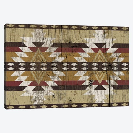 Burning Sands Tribal Pattern on Wood Canvas Print #TXT59} by 5by5collective Canvas Artwork