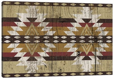 Burning Sands Tribal Pattern on Wood Canvas Art Print