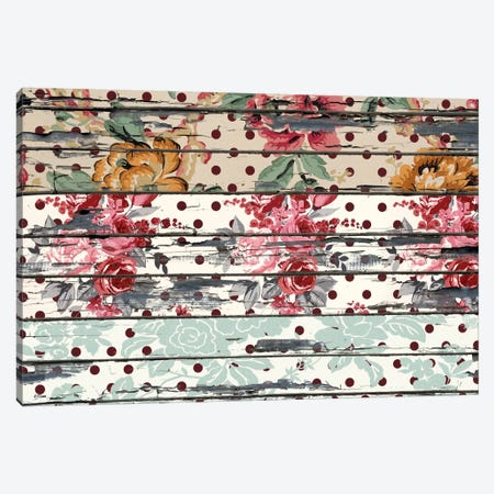 Floral Boards Canvas Print #TXT5} by Unknown Artist Art Print