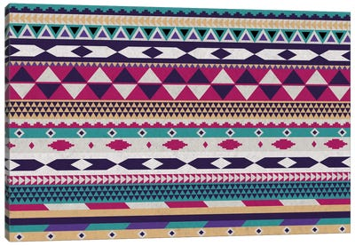 Tribal Purple, Magenta, and Teal Pattern Canvas Print #TXT60