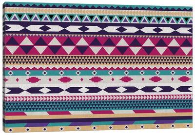 Purple, Magenta & Teal Tribal Pattern Canvas Art Print