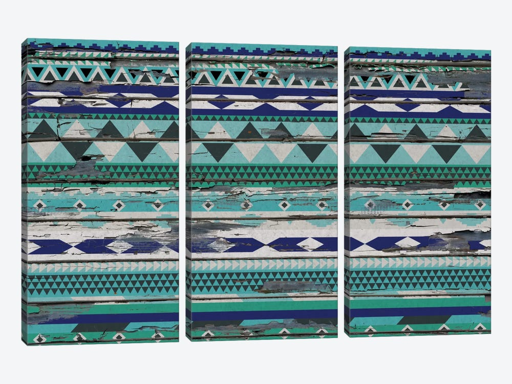Tribal Winter Ice Pattern by iCanvas 3-piece Canvas Artwork