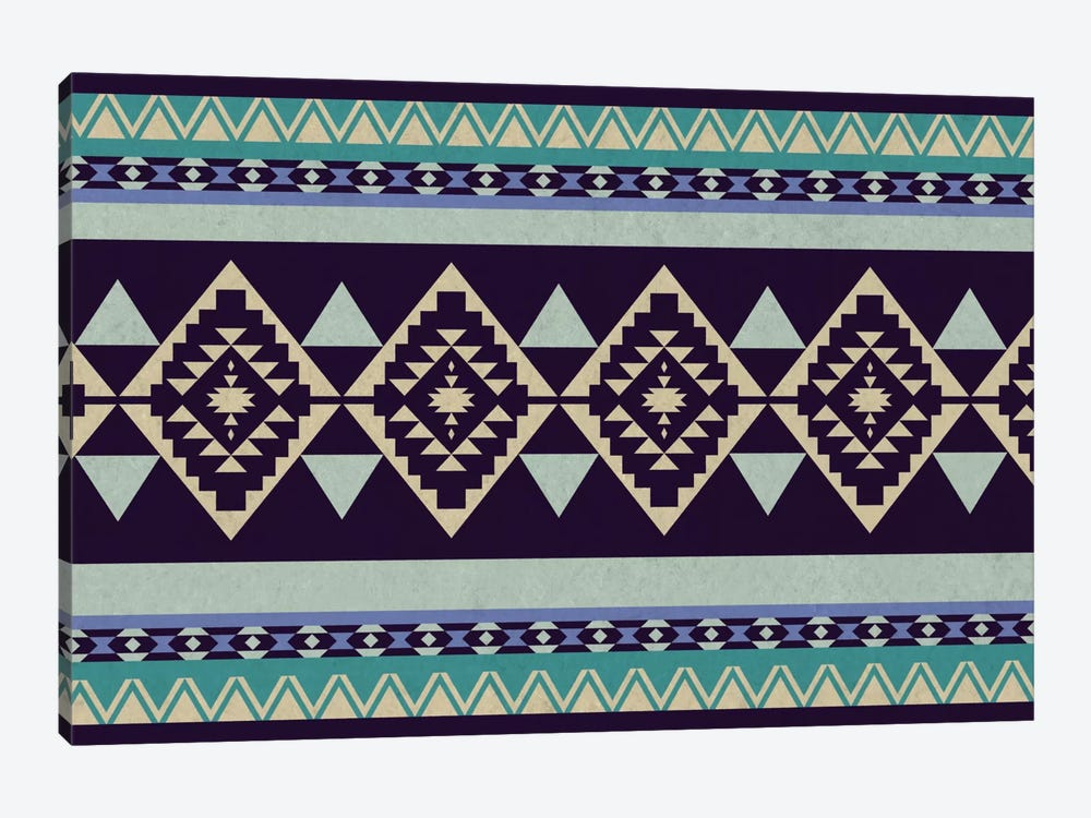 Deep Purple Tribal Pattern 1-piece Canvas Print