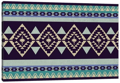 Deep Purple Tribal Pattern Canvas Art Print