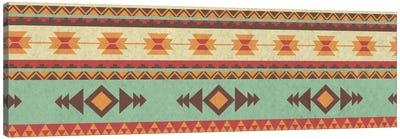Green & Yellow Tribal Pattern Canvas Art Print