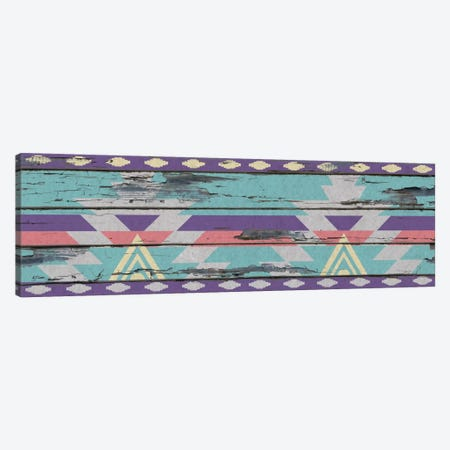 Aztec Purple Tribal Pattern on Wood Canvas Print #TXT9} by 5by5collective Canvas Artwork