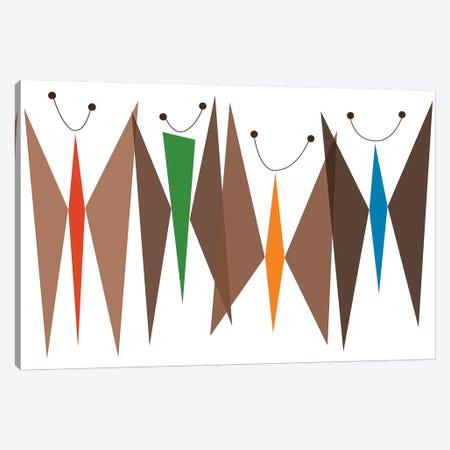 Butterflies - Browns Canvas Print #TYA1} by Tonya Newton Art Print