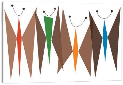 Butterflies - Browns Canvas Art Print