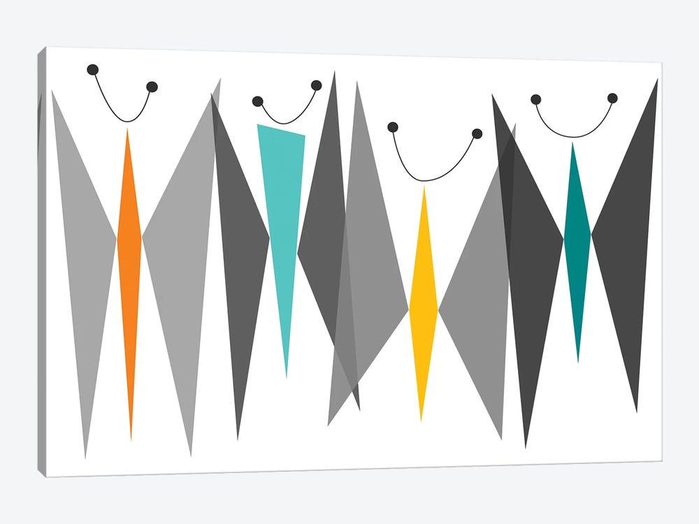 Butterflies - Grays by Tonya Newton 1-piece Canvas Print