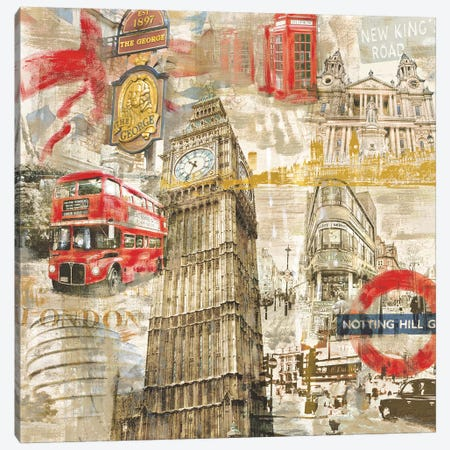 In London Canvas Print #TYB12} by Tyler Burke Art Print