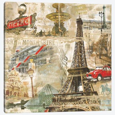 In Paris Canvas Print #TYB13} by Tyler Burke Art Print