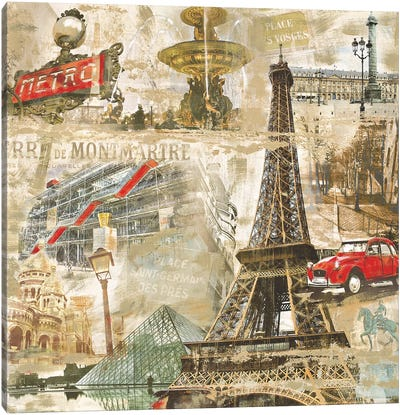 In Paris Canvas Art Print