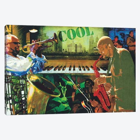 Cool Jazz Canvas Print #TYB2} by Tyler Burke Canvas Wall Art