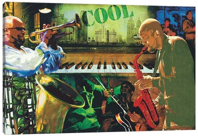Cool Jazz Canvas Art Print
