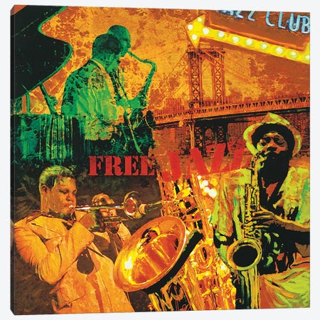 Free Jazz Canvas Print #TYB3} by Tyler Burke Canvas Wall Art