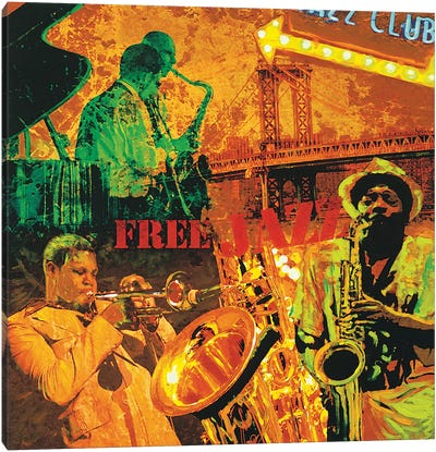 Free Jazz Canvas Art Print
