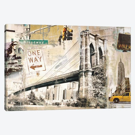 Manhattan Canvas Print #TYB5} by Tyler Burke Canvas Print