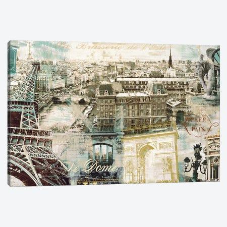 Paris Canvas Print #TYB7} by Tyler Burke Art Print