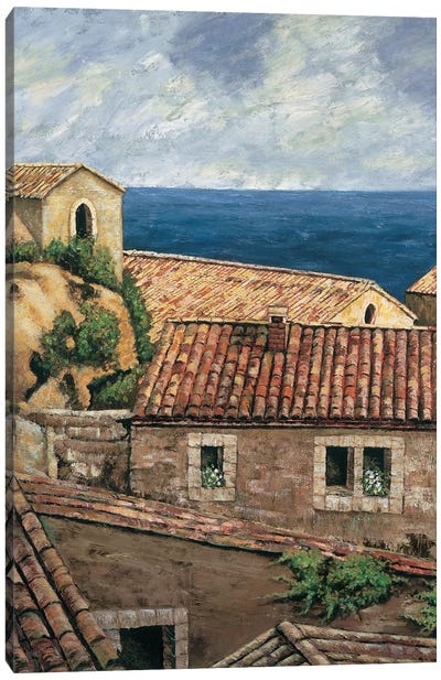Coastal Village II Canvas Art Print