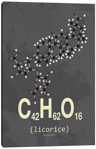 Molecular Formula Series: Licorice Canvas Print #TYP10