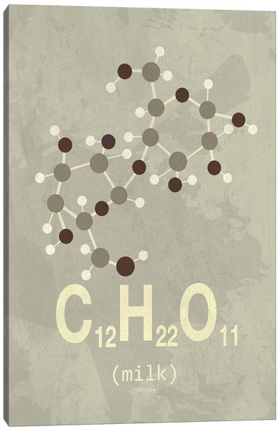 Molecular Formula Series: Milk Canvas Print #TYP11