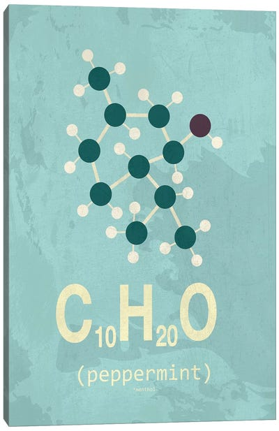 Molecular Formula Series: Peppermint Canvas Print #TYP12