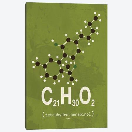 THC (Tetrahydrocannabinol) I Canvas Print #TYP15} by TypeLike Canvas Art