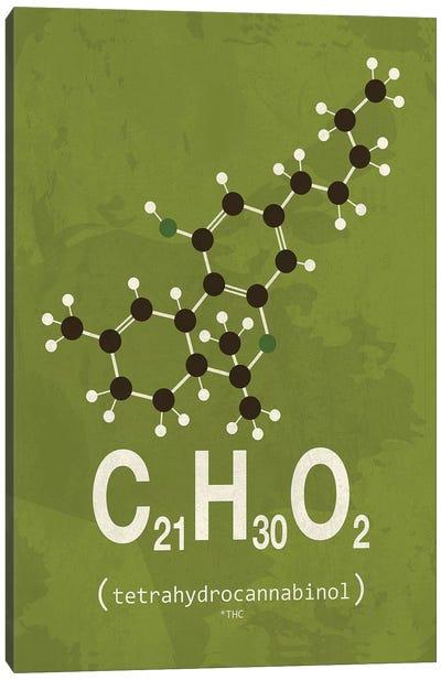 THC (Tetrahydrocannabinol) I Canvas Art Print