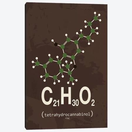 THC (Tetrahydrocannabinol) III Canvas Print #TYP17} by TypeLike Canvas Wall Art