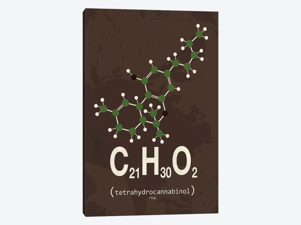 THC (Tetrahydrocannabinol) III by TypeLike 1-piece Canvas Artwork