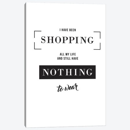 Shopping Canvas Print #TYP20} by TypeLike Canvas Artwork