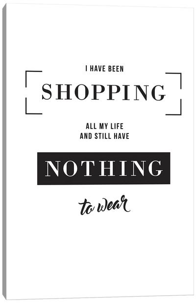 Shopping Canvas Art Print